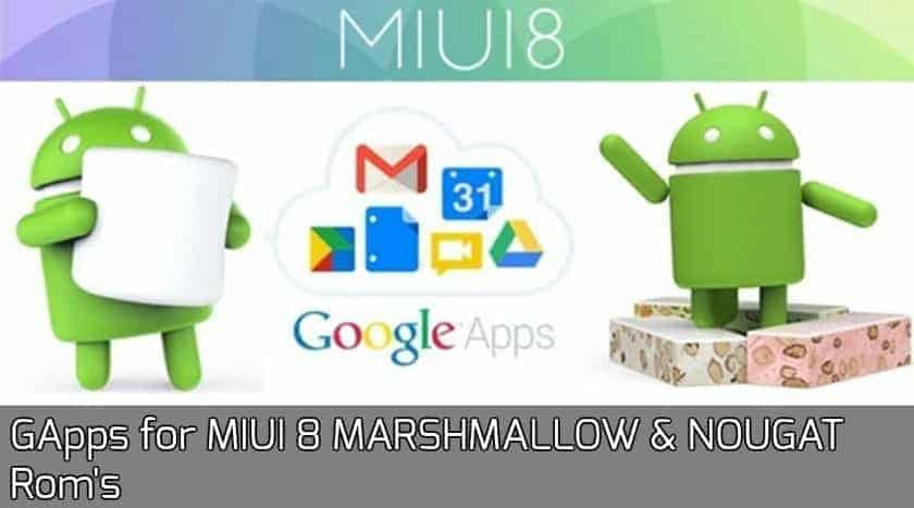 GApps for MIUI 8