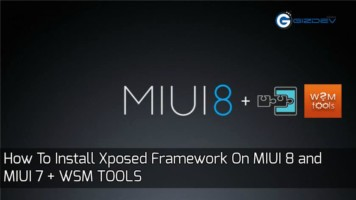 Xposed Framework On MIUI 8