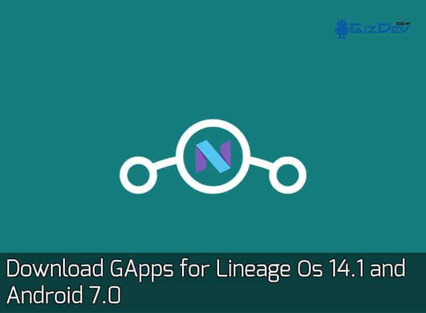 GApps for Lineage Os 14.1
