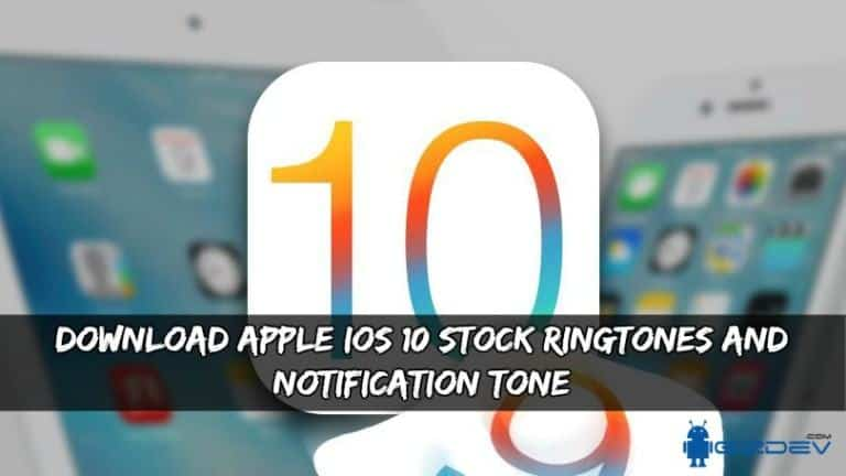 iOS 10 Ringtones