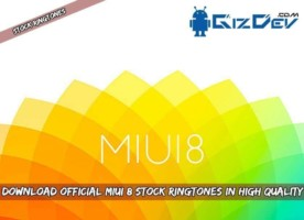 MIUI 8 Stock Ringtones