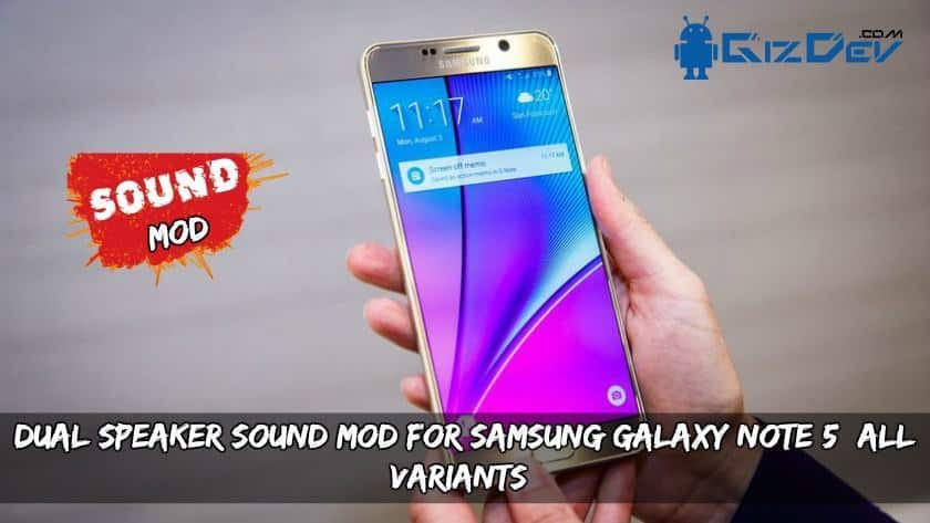 Dual Speaker Sound MOD for Samsung Galaxy Note 5 (All Variants)