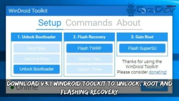 Download V3.1 WinDroid Toolkit To Unlock, Root And Flashing Recovery