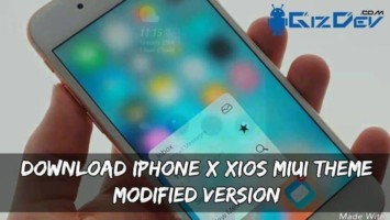 Download iPhone X XIOS MIUI Theme (Modified Version)