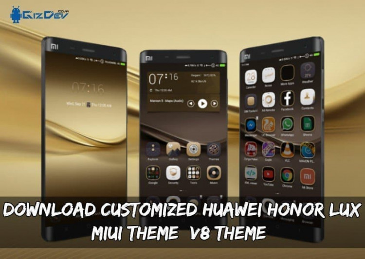 Download Customized Huawei Honor LUX MIUI Theme (V8 Theme)