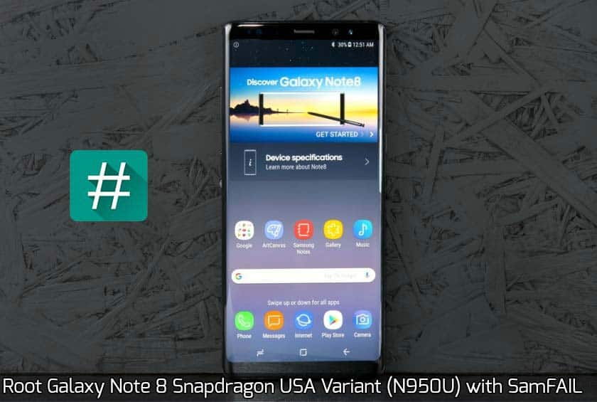 Root Galaxy Note 8 Snapdragon USA Variant