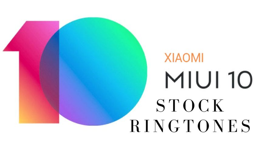 MIUI 10 Stock Ringtones