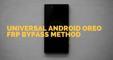 Universal Android Oreo Frp Bypass
