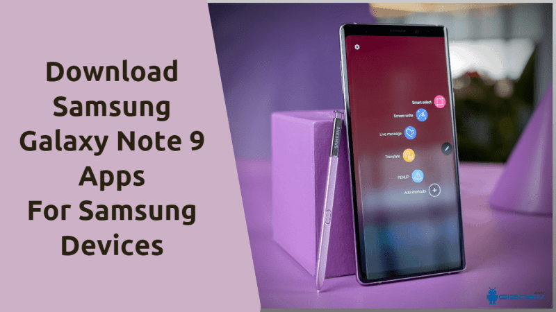 Samsung Galaxy Note 9 Apps