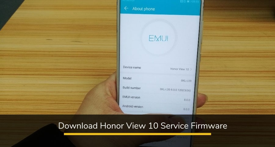 Honor View 10 Service Firmware