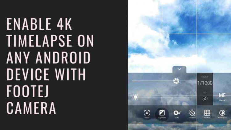 How To Enable 4K timelapse On Any Android Device With Footej Camera. Follow the post to enable the 4K Camera time-lapse feature.