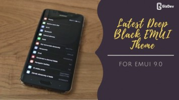 Download Latest Deep Black EMUI Theme for EMUI 9.0 Pie