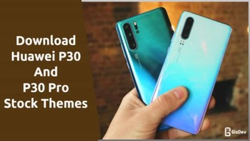 Huawei P30 and P30 Pro Stock Themes