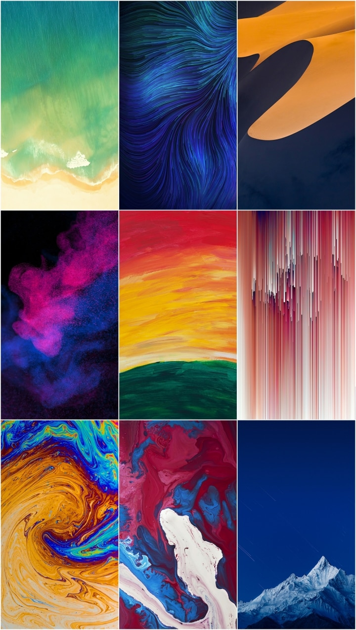 Realme 3 Stock Wallpapers