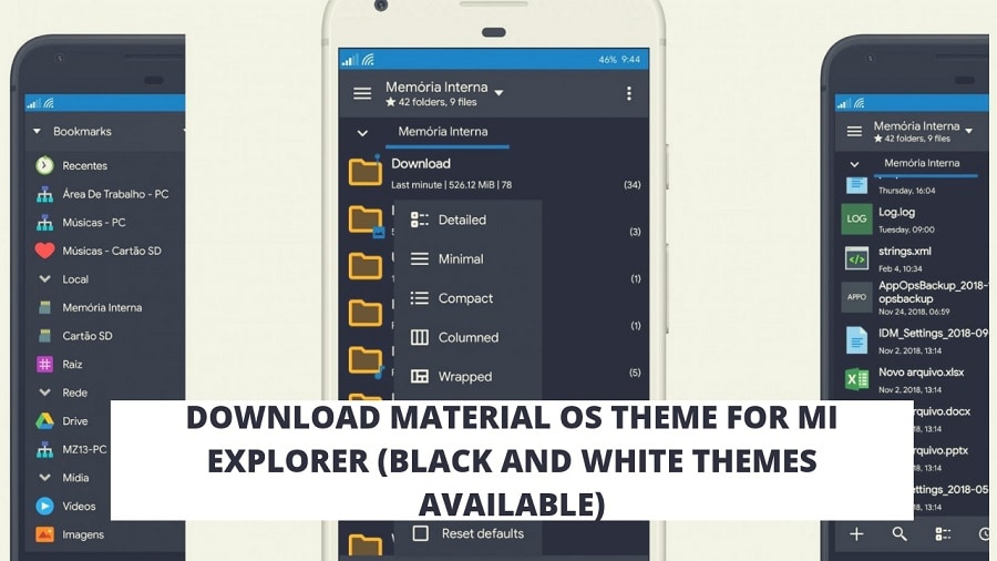 Download Material OS Theme For MI Explorer (Black And White Themes Available)