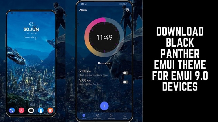 Download Black Panther EMUI Theme For EMUI 9.0 Devices