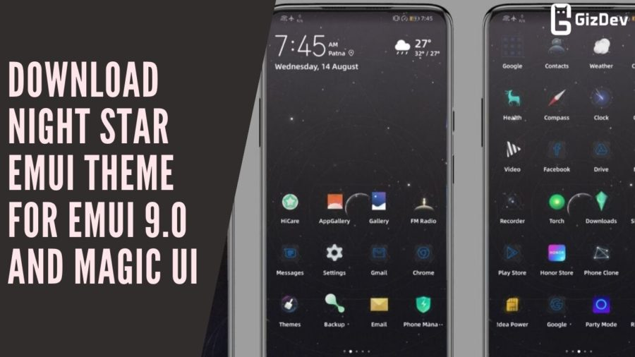 Download Night Star EMUI Theme for EMUI 9.0 And Magic UI