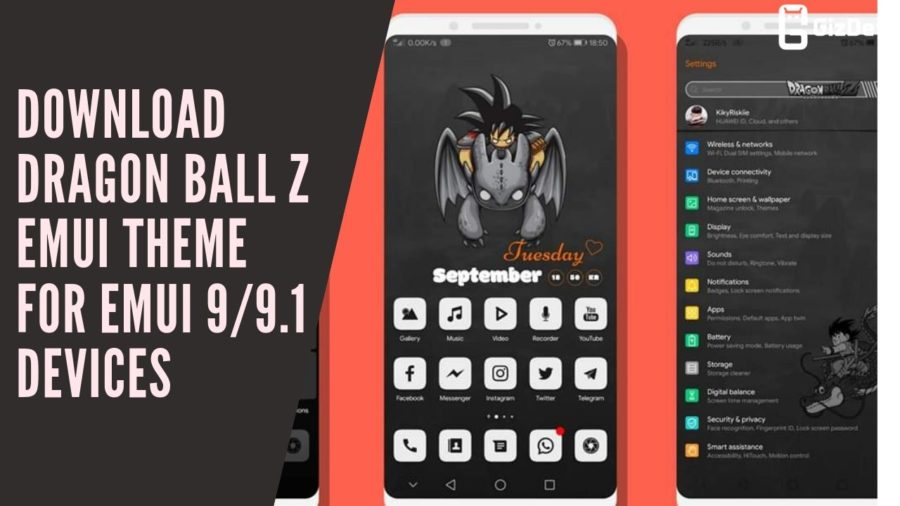 Download Dragon Ball Z EMUI Theme For EMUI 99.1 Devices