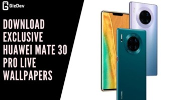 Download Exclusive Huawei Mate 30 Pro Live Wallpapers