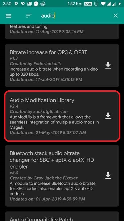 Audio Modification Library