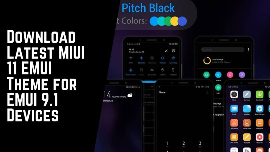 Download Latest MIUI 11 EMUI Theme for EMUI 9.1 Devices