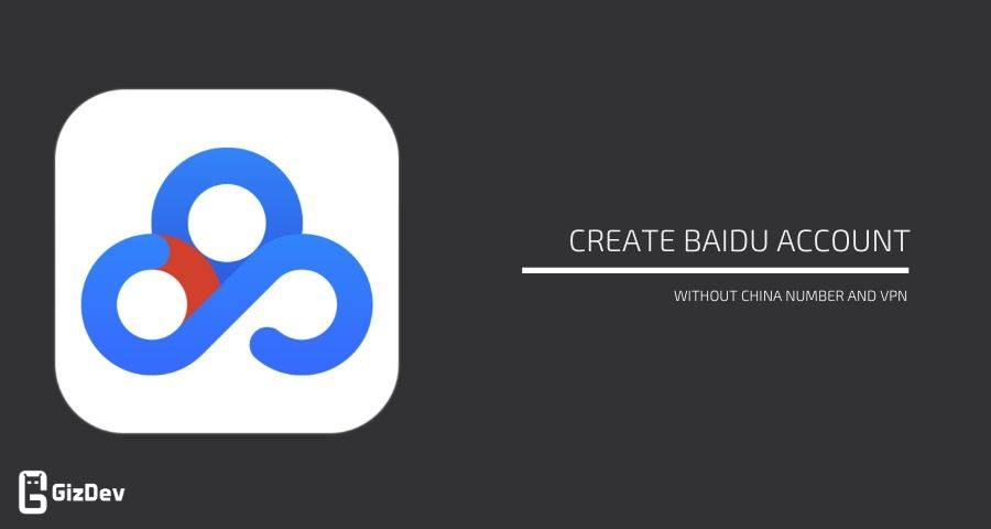 Create Baidu account without China number