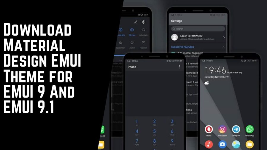 Download Material Design EMUI Theme for EMUI 9 And EMUI 9.1
