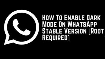 Enable Dark Mode On WhatsApp Stable