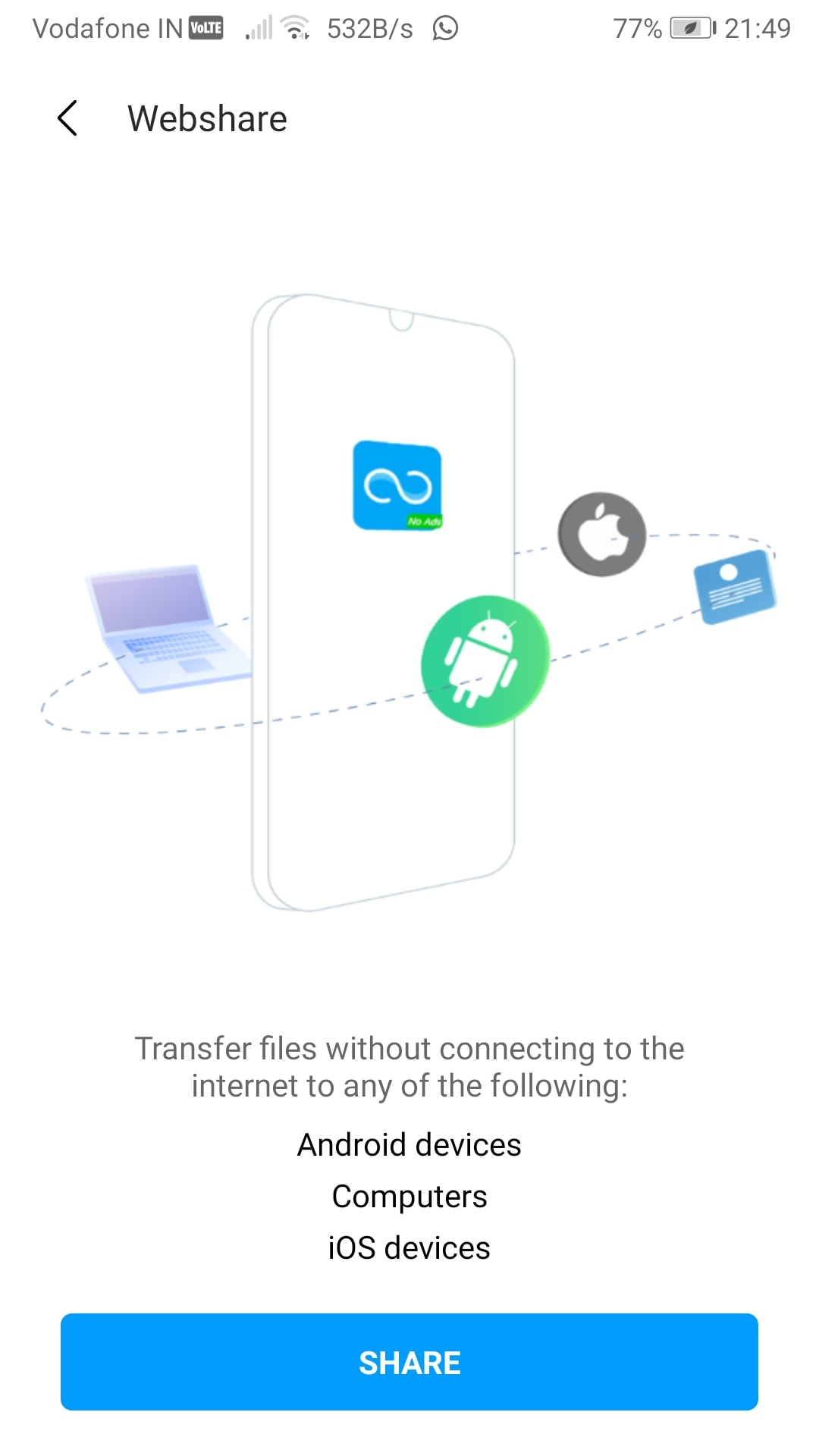 transfer files from Mobile to PC