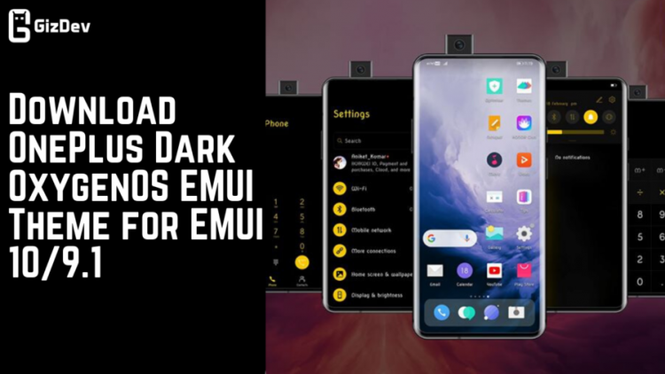 Download OnePlus Dark OxygenOS EMUI Theme for EMUI 109.1