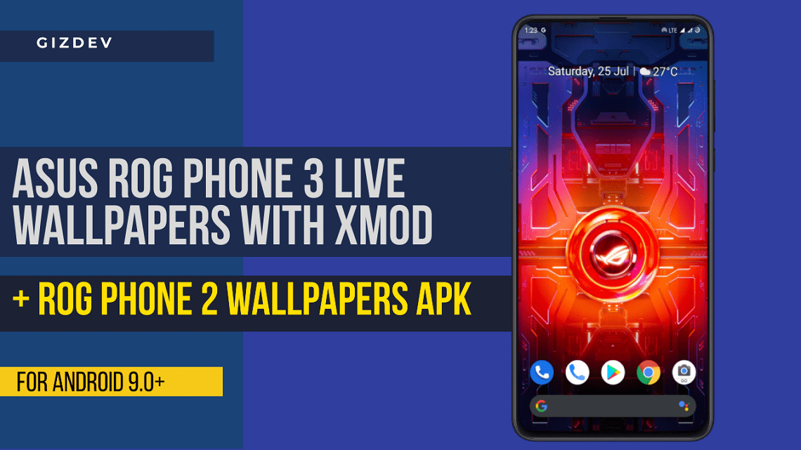 Asus ROG Phone 3 Live Wallpapers APK With X-Mode Toggle