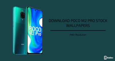 Poco M2 Pro Stock Wallpapers