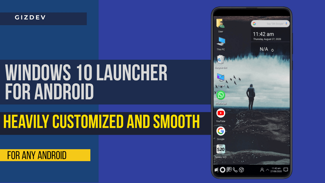Windows 10 Launcher For Android, Heavily Customized And Smooth