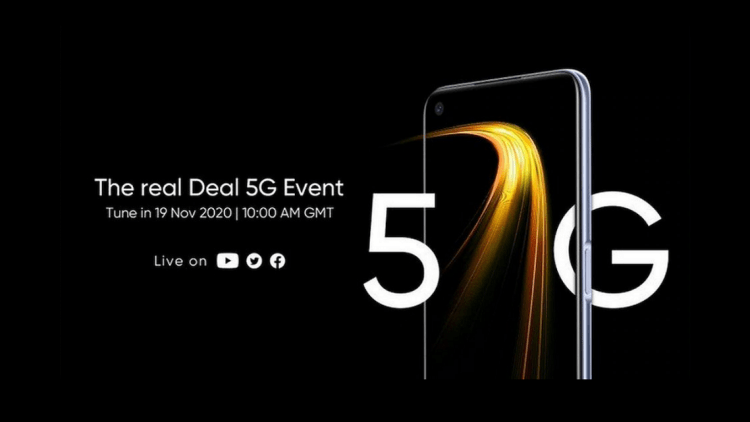 Realme 7 5G To Be Launched on 19 November, Realme V5 Rebrand
