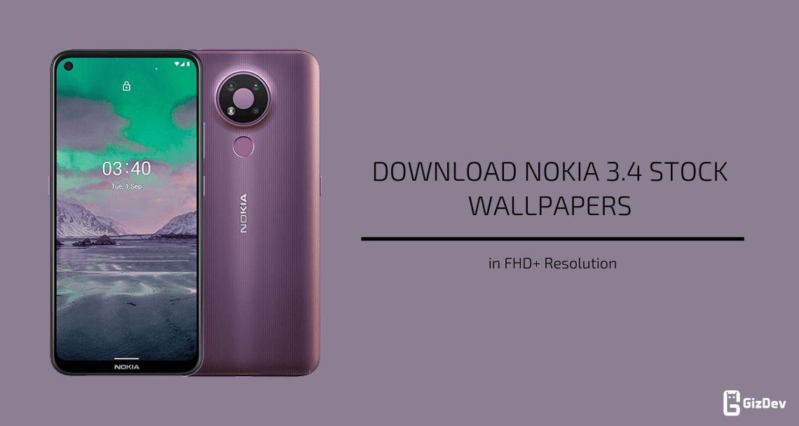 Nokia 3.4 Stock Wallpapers