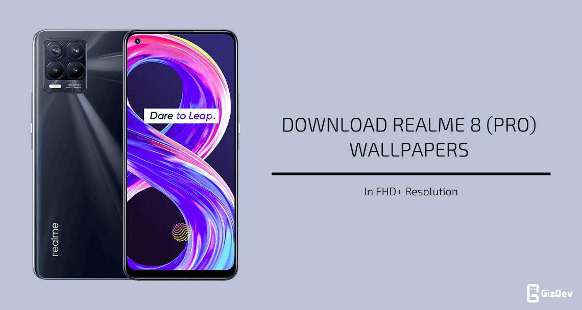 Realme 8 and 8 Pro Stock Wallpapers