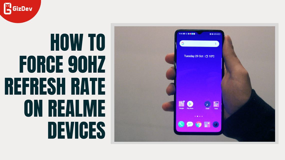 How To Force 90hz Refresh Rate On Realme Devices