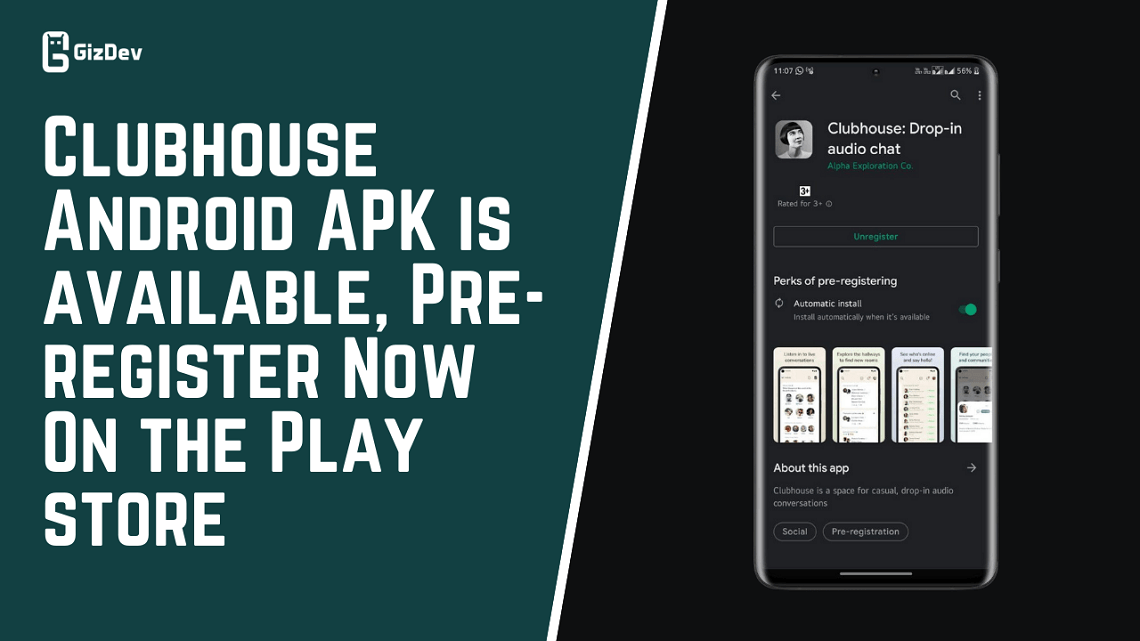 Clubhouse Android APK is available, Pre-register Now On the Play store