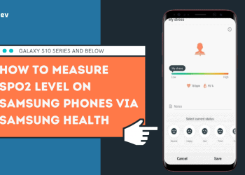 How to measure SPO2 Level On Samsung Phones via Samsung Health
