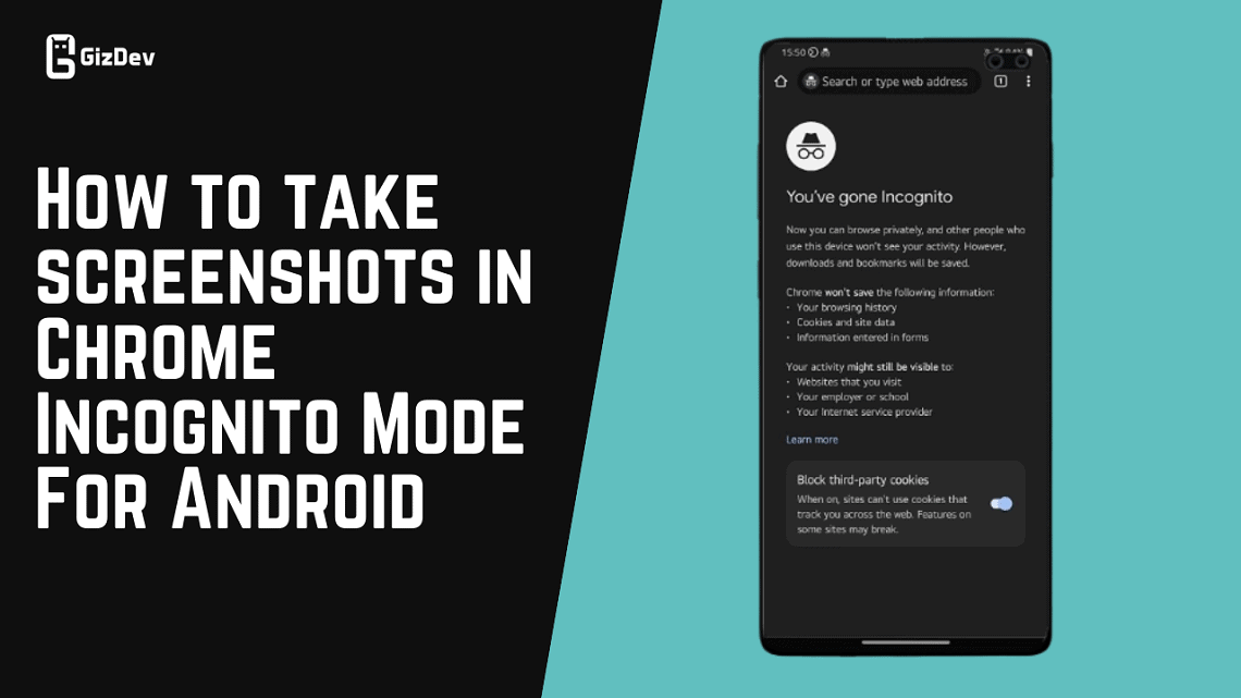 How to take screenshots in Chrome Incognito Mode For Android