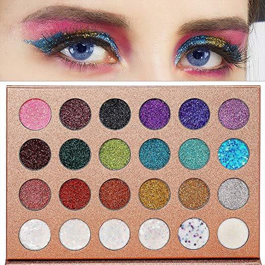 glitter queen 24 piece eye shadow palette