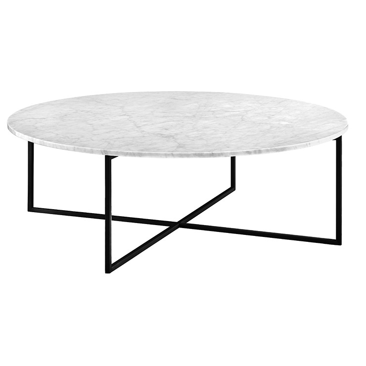 Elle Luxe Marble Round Coffee Tables Globewest