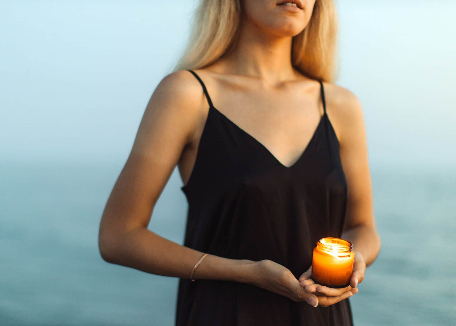 woman with candle