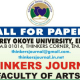 CALL FOR PAPERS - THINKERS JOURNAL 1