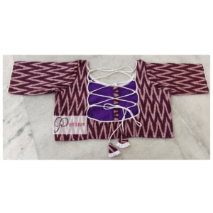 Wine Ikkat Blouse
