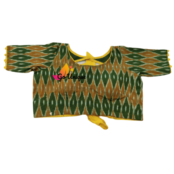 Green Yellow Itkat Back Lace