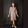 Multi Colour Ikkat Dress With Collar