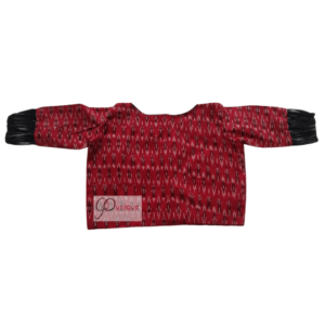 Red And Black Ikkat Combination Blouse 2