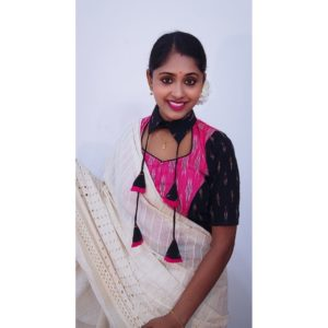 pink and black itkot with collar with latkan croptop