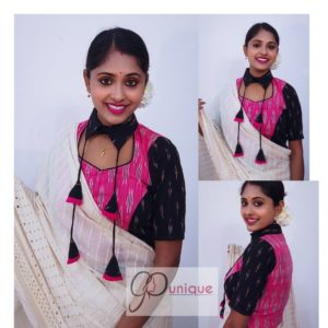 pink and black itkot with collar with latkan croptop(1)